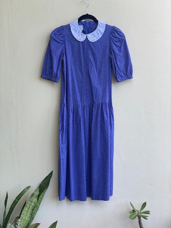 Drop Waist 90's Dress / Laura Ashley Dress / Puff… - image 2