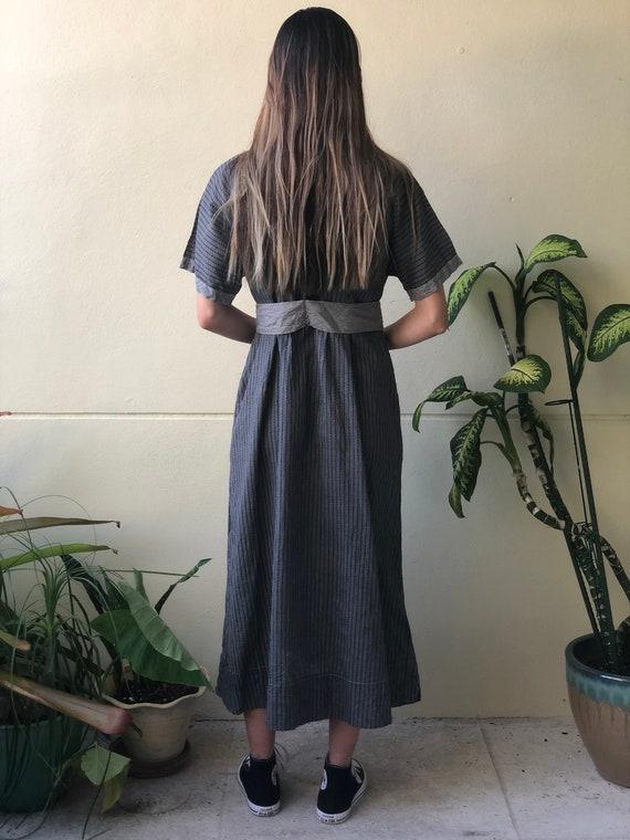 Antique Chore Dress / 1910's Cotton Workwear Tuni… - image 3