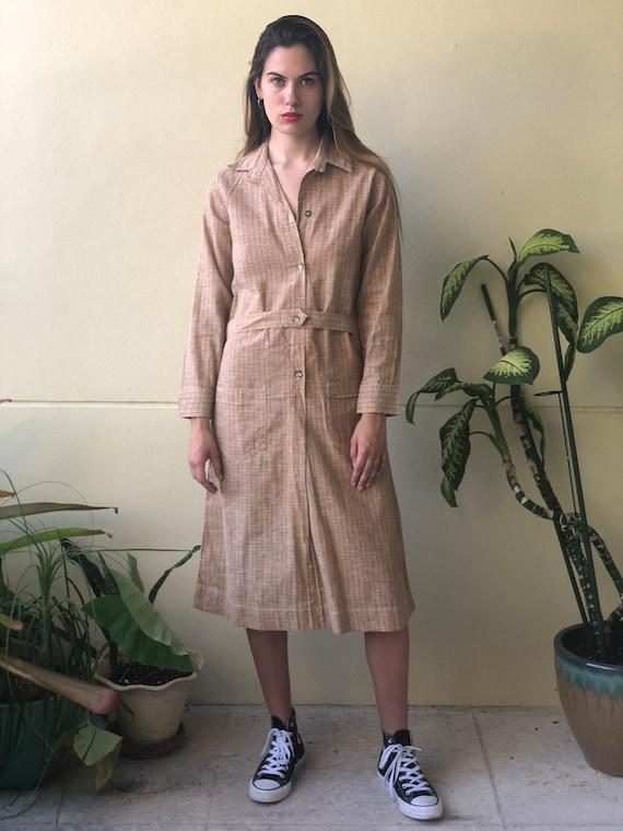 Deadstock Antique Dress / Chore Dress / 1920's Cot