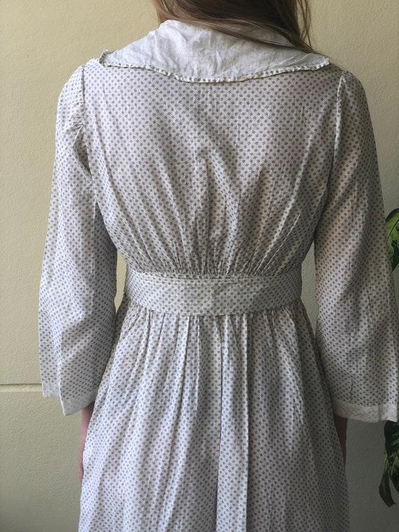 Antique Cotton Dress / 1910's Cotton Workwear Dre… - image 9