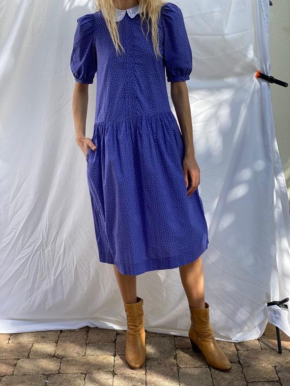 Drop Waist 90's Dress / Laura Ashley Dress / Puff… - image 7