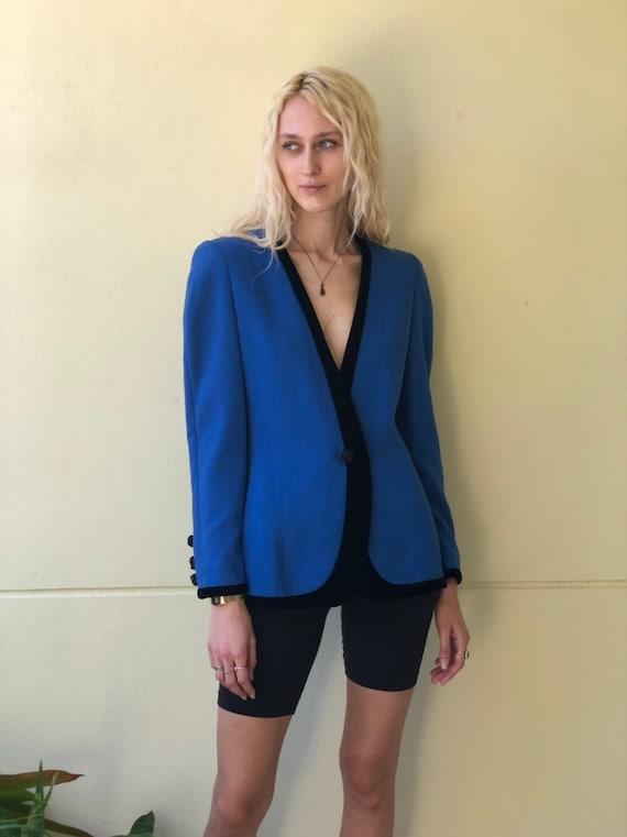 Vintage Carolina Herrera Blazer / 80's Suit Jacket