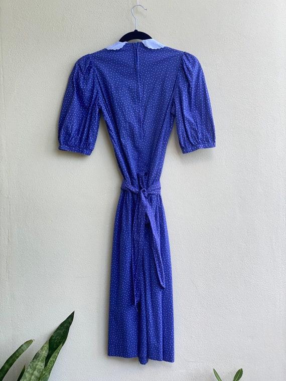 Drop Waist 90's Dress / Laura Ashley Dress / Puff… - image 3