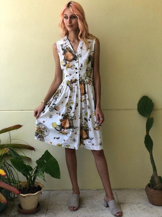 50s Novelty Dress / Rare Novelty Print / Fifties … - image 8