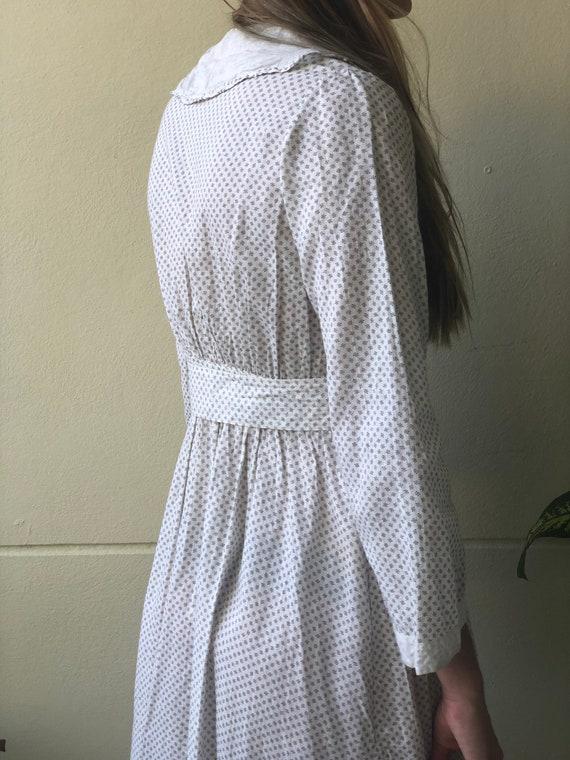 Antique Cotton Dress / 1910's Cotton Workwear Dre… - image 5