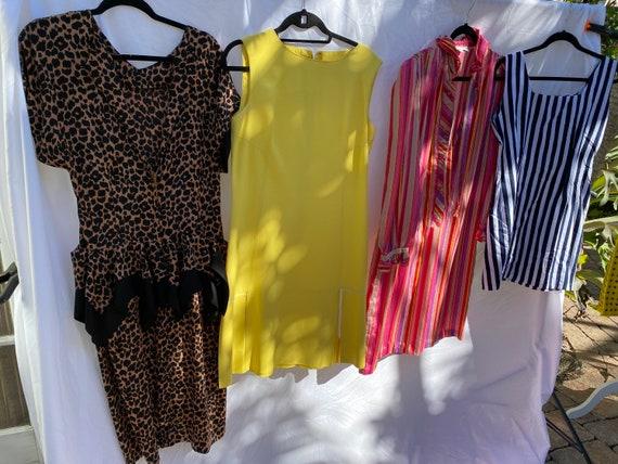 Virtual Garage Sale Dress / 80's Dress Lot / Cheap