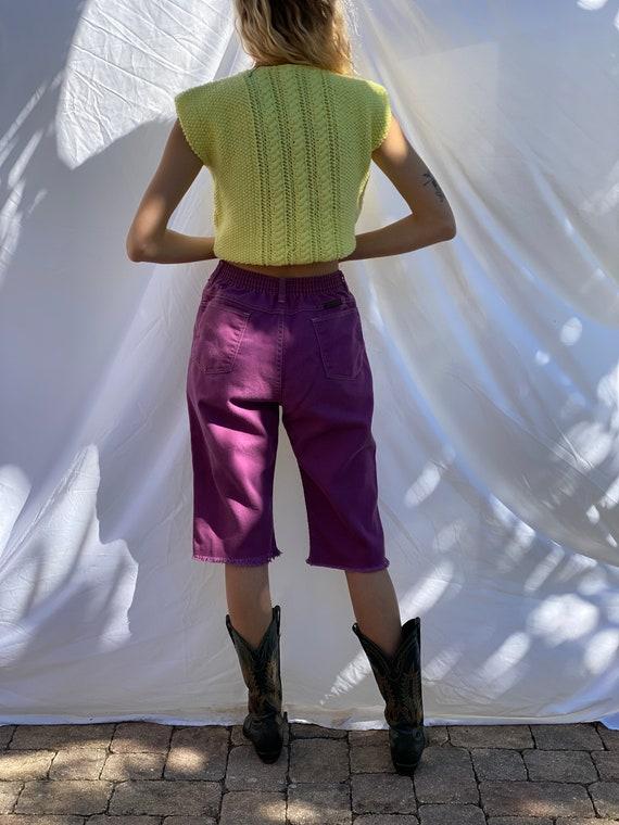 Vintage Sweater Vest / Knit 60s Crochet / Boxy Kn… - image 6