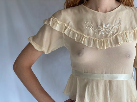 1930's Sheer Dress / Ethereal Garden Party Dress … - image 7