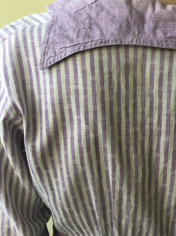 Antique Chore Dress / 1910's Cotton Workwear Dres… - image 5