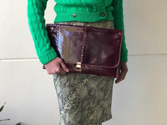 Vintage Snakeskin Clutch Purse / Robert Bestien 19