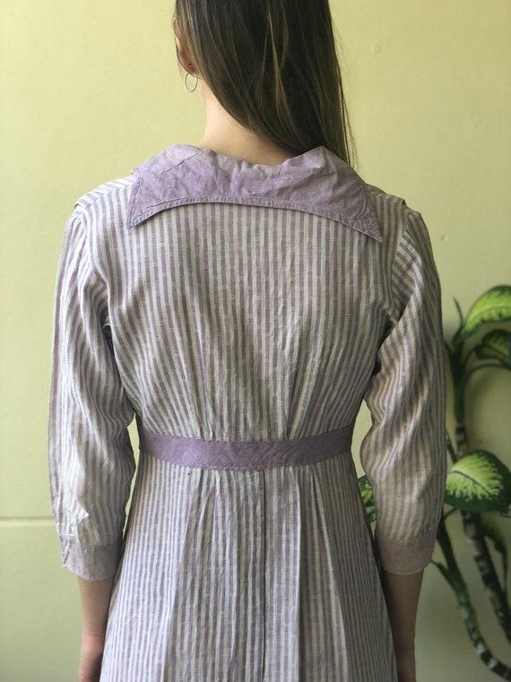 Antique Chore Dress / 1910's Cotton Workwear Dres… - image 4
