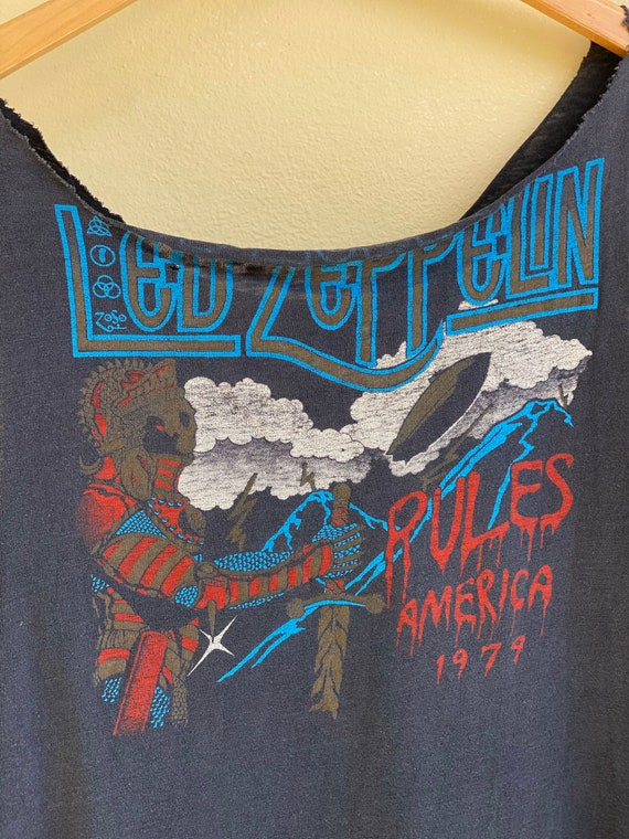 Led Zeppelin Tshirt / Vintage USA Tour 1977 1979 … - image 10