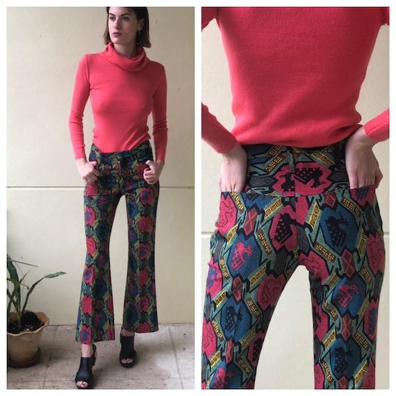 1960's Printed Pants / Gender Neutral Printed Part