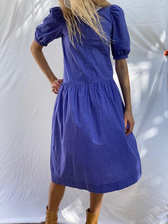 Drop Waist 90's Dress / Laura Ashley Dress / Puff… - image 8
