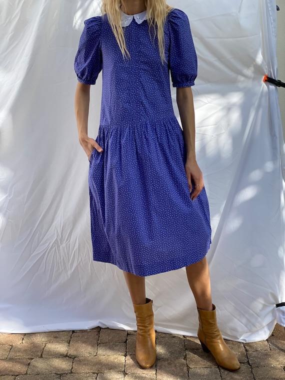 Drop Waist 90's Dress / Laura Ashley Dress / Puff… - image 1