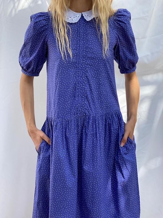 Drop Waist 90's Dress / Laura Ashley Dress / Puff… - image 10