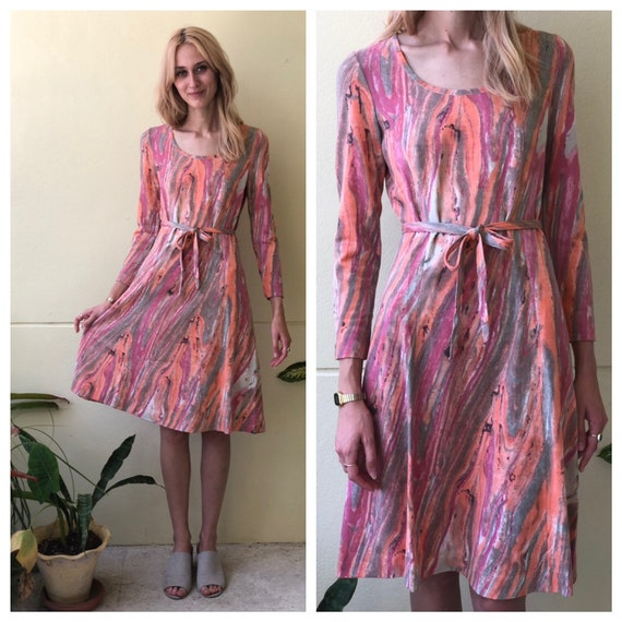 1960's Dress / Italian Made Designer Goldworm / Ma