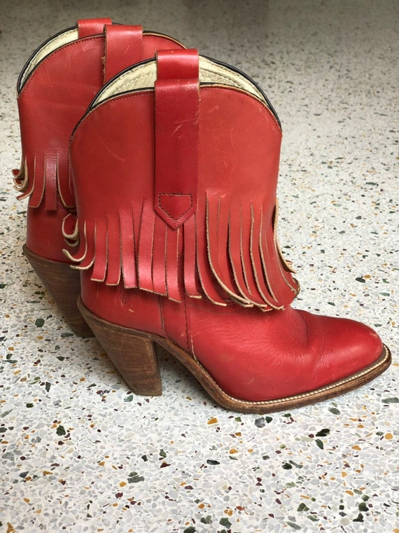 6 M Cowboy Boots / 1970's Frye Cowboy Boots / Frin