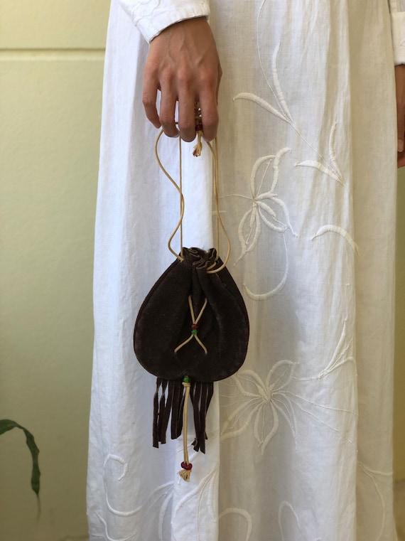 1970's hippie Handbag / Tiny Purse / fringe purse