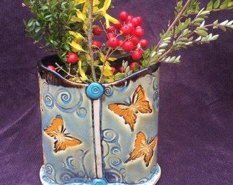 Vase,Butterfly Vase,Flower Vase,Spring Bouquet Vase, Butterfly Holder