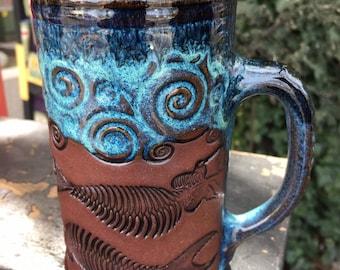 Mermaid,Skeleton,Mermaid Mug,Day of the Dead Mug,Large Coffee Mug,Mermaid Coffee