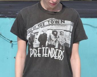 vintage PRETENDERS 1980 tour t-shirt - medium