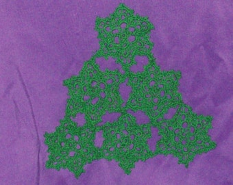 Christmas Pine Tree  Doily Table Decoration Crochet Doily Green Tree Doily Holiday Decor Cotton Doily