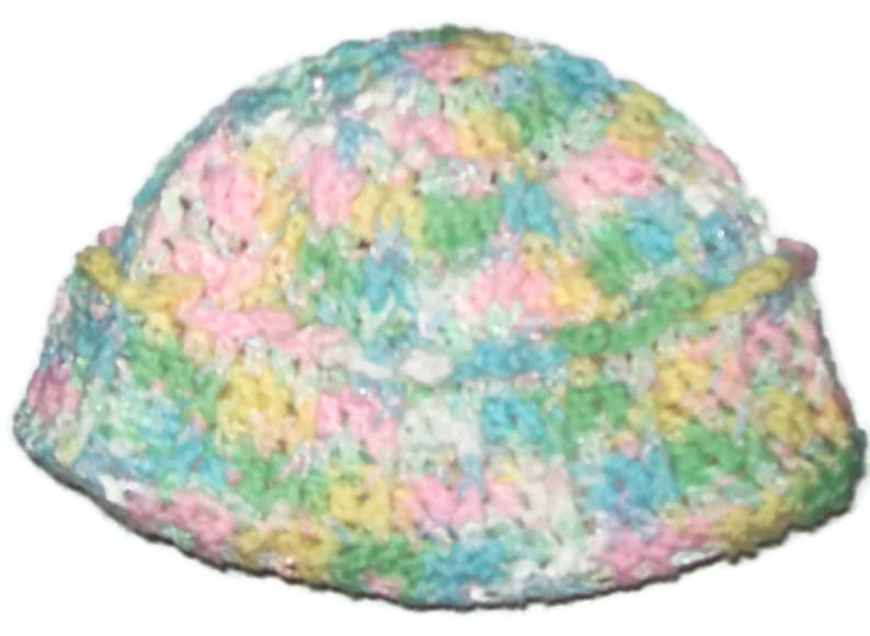 Pastel Cuffed Girls Hat Elementary School Hat Winter Cap image 0