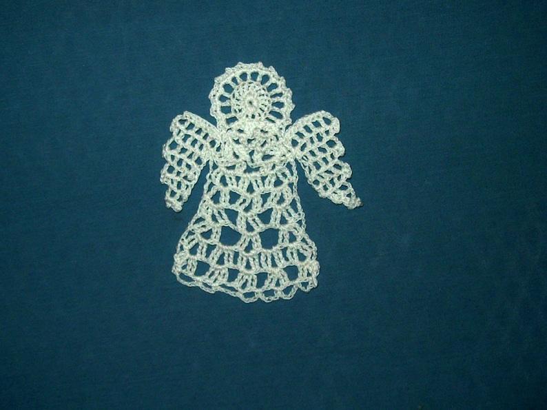 Small Angel Doily Bookmark Ornament Decoration Crochet image 0