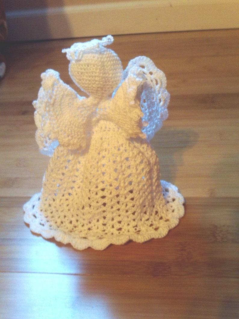 Crochet Christmas Angel Treetop decoration Religious image 0
