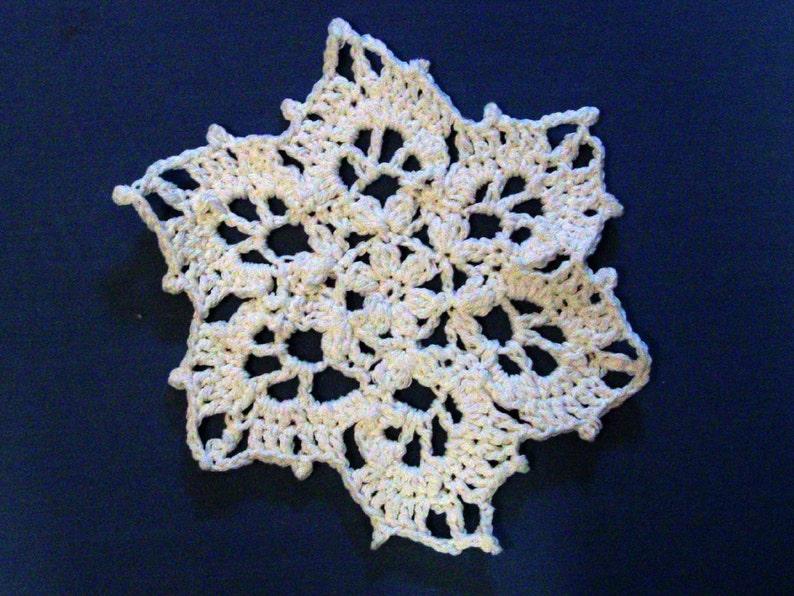Snowflake Dishcloth Washcloth 100 Percent White Cotton image 0