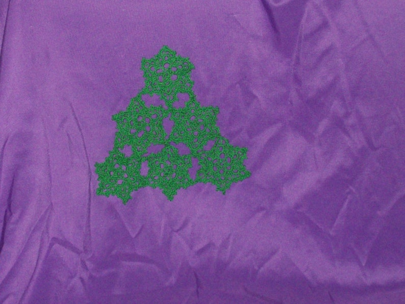Pine Tree Doily Table Decoration Cotton Tree Christmas image 0