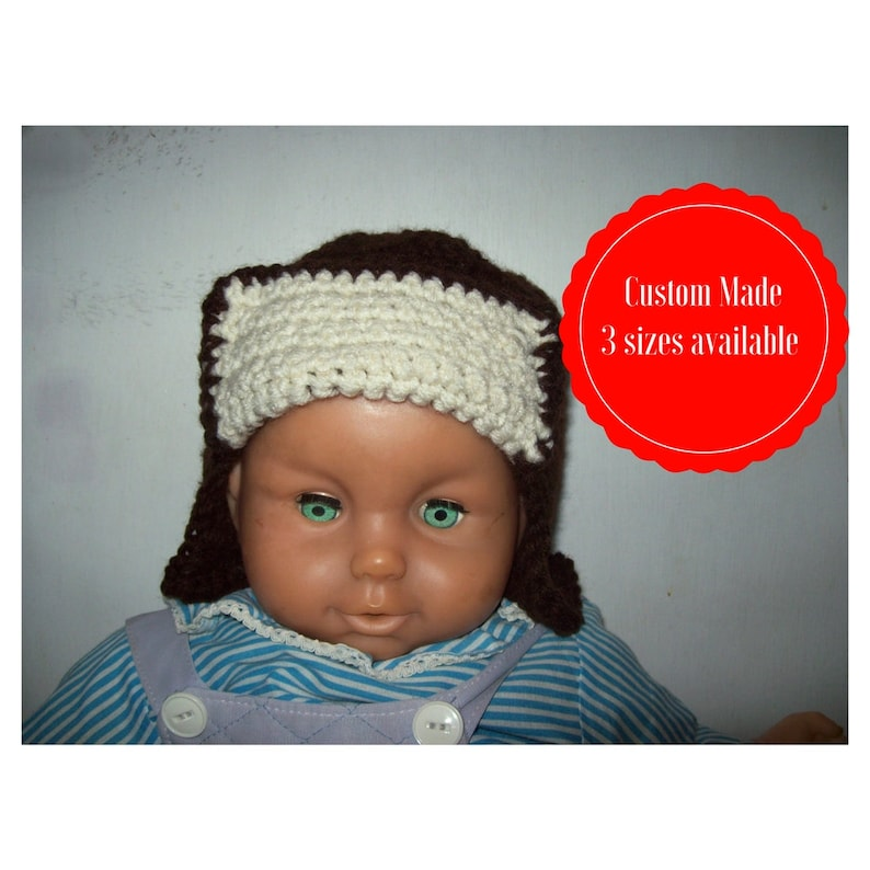 Boy's Aviator Hat Custom Made Sizes Available 6 Months image 0