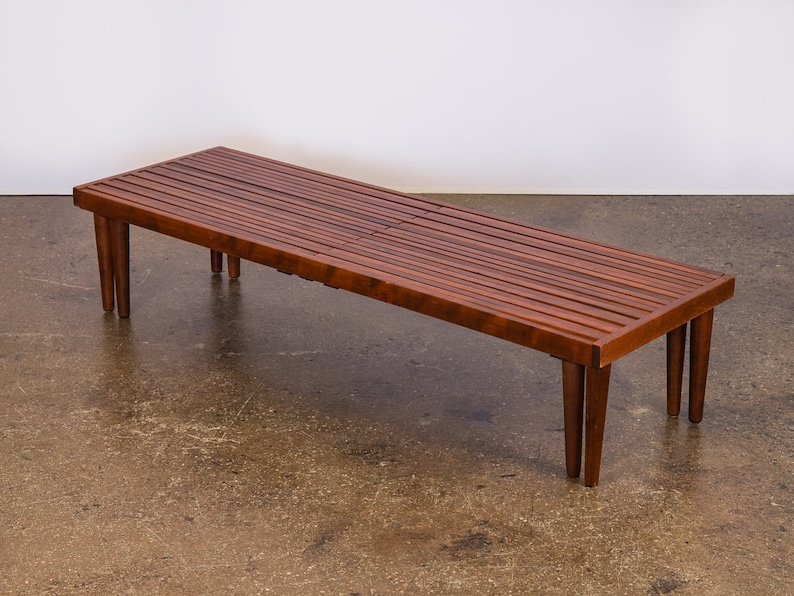 Terrific Brown Saltman Expandable Slat Bench Or Coffee Table Bralicious Painted Fabric Chair Ideas Braliciousco