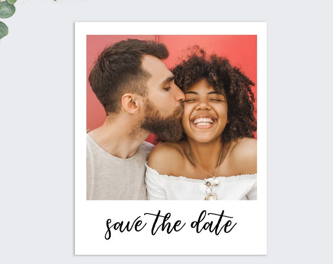 polaroid save the date cards, photo save the dates, printed save the dates