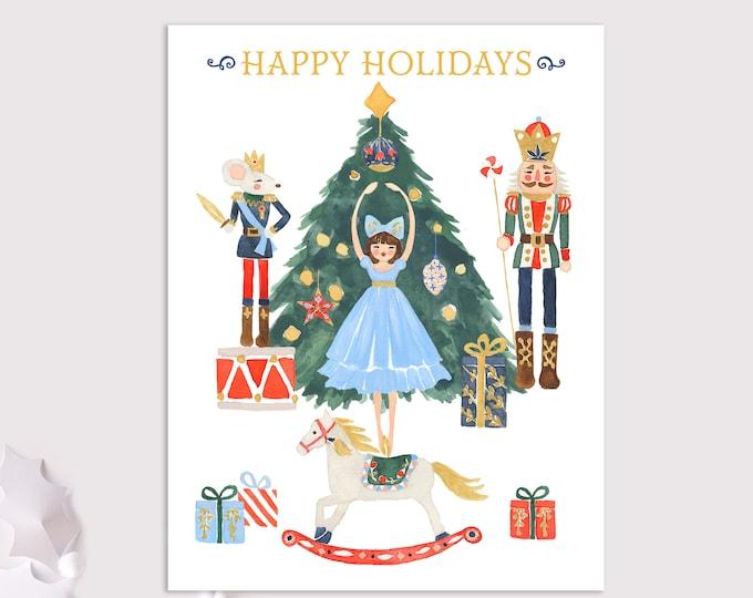 nutcracker holiday cards / happy holidays / christmas cards