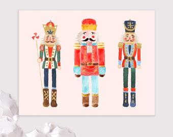 nutcracker holiday cards / Christmas card pack / 8 card set