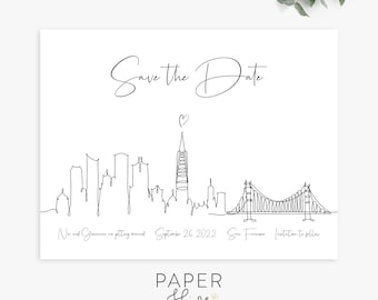 san francisco save the date magnet postcard flat cards, destination save the dates, modern minimalist printed save the dates