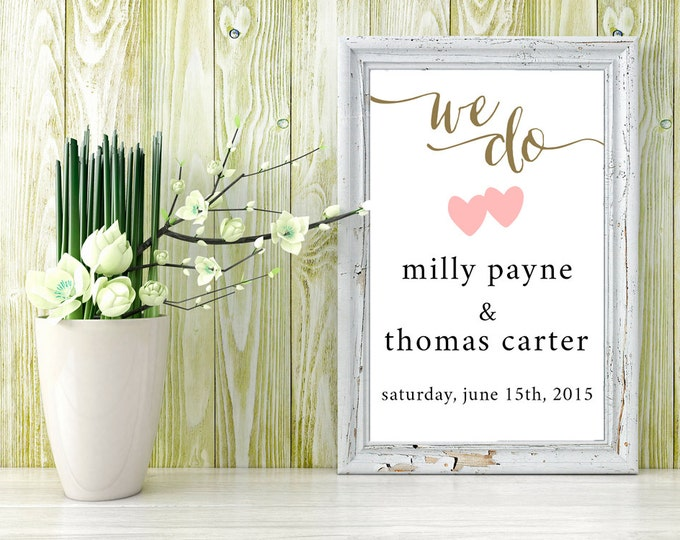 printable sign / printable sign for wedding, birthday party, baby shower, bridal shower