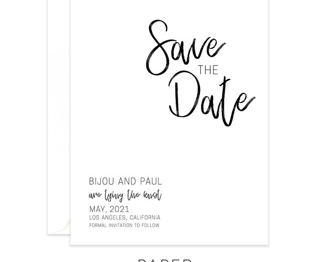minimalist save the date cards magnets postcards, wedding announcement, printed cards