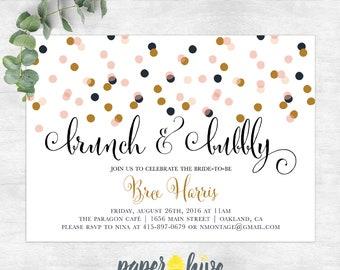 f1090a052bdb Brunch and bubbly bridal brunch invitation   bridal shower invite    printable bridal shower invitations   champagne brunch