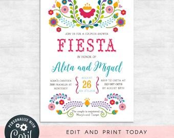 f9a9ba7f4fba Fiesta couples shower invitations   fiesta invitation   wedding shower  invites   INSTANT DOWNLOAD   Printable