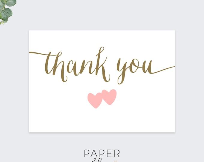 wedding thank you cards / minimal thank you card set / set of 10 cards