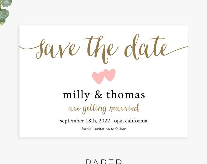 modern save the date magnet postcard flat cards, simple save the dates, printed save the dates