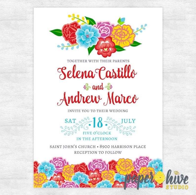 Mexican Wedding Invitations Fiesta Wedding Invites Etsy