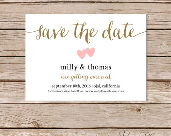 save the date cards / calligraphy save the date / save the date printable / save the date template