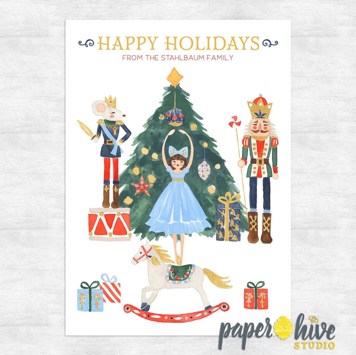 nutcracker holiday cards / nutcracker ballet christmas card | Etsy