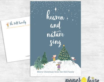 holiday postcards / personalized christmas cards / holiday greeting card / heaven and nature sing /