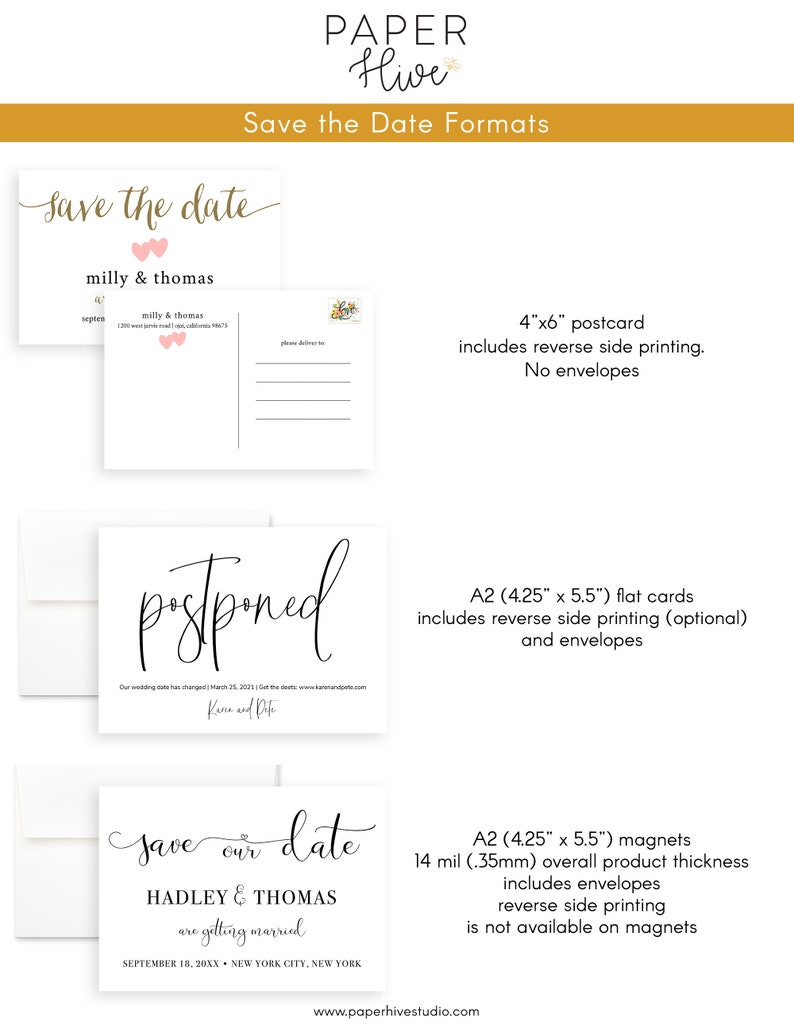 las vegas minimal save the date cards wedding announcement printed cards postcards save the date magnets