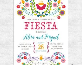 Fiesta invitation / Fiesta couples shower invitations / cinco de mayo wedding  / printable invitations / printed invitations